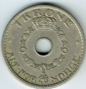 Norway, Haakon VII, One Krone 1939, VF, WE5804